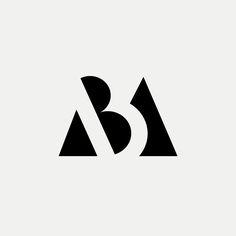 MB Modern monogram by British freelance logo designer Richard Baird - richardbaird.com
