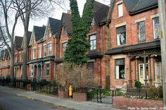 Cabbagetown Toronto Neighbourhoods, Modern Log Cabins, Downtown Toronto, Niagara Falls, Townhouse, The Neighbourhood, Canada, Real Estate, Exterior