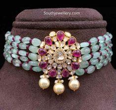 Jewellery Designs - Latest Indian Jewellery Designs 2019 ~ 22 Carat Gold Jewellery one gram gold Indian Jewelry Earrings, Indian Wedding Jewelry, Emerald Jewelry, Bead Jewellery, Beaded Jewelry, Indian Gold Jewellery, Gold Jewelry, Diamond Jewellery, Gold Bangles