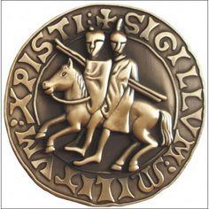 selo de Templar peso de papel, acabamento de bronze                                                                                                                                                                                 Mais