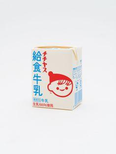 Japanese milk packaging by Yumi Yazawa + Koichi Sugiyama