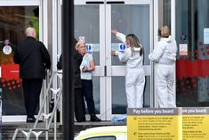 MANCHESTER, ENGLAND - OCTOBER 11: Forensic officers search outside the Arndale Centre on October 11, 2019 in Manchester, England. A man in his 40s was arrested on suspicion of assault, as paramedics treated five people for injuries at Manchester Arndale, a large shopping complex in the city centre. (Photo by Anthony Devlin/Getty Images) via @AOL_Lifestyle