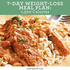 7-Day Diet Meal Plan to Lose Weight: 1,500 Calories - EatingWell