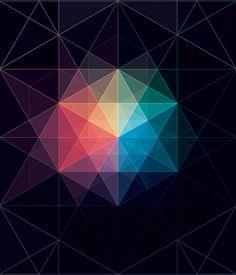 Geometric Art of Andy Gilmore Geometric Patterns, Geometric Designs, Textures Patterns, Geometric Shapes, Geometric Tattoos, Web Design, Design Art, Instalation Art, Art Disney
