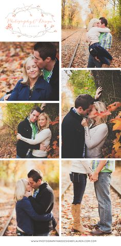 Photography & Design By Lauren- an on location photographer specializing in Weddings, Couples, High School Seniors, Families and Models based in Indiana 502.230.1907 | A couples session with fall colors in Sellersburg, Indiana