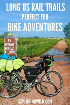 Long U.S. Rail trails that are mostly flat for bicycle touring.