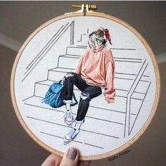 2,194 отметок «Нравится», 47 комментариев — Sila Gur (@jolly_hoops) в Instagram: «What's your favourite Converse colour? 🌈 . . . . #embroidery #embroideryart #handmade…»