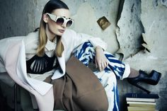 SS13 sunglasses styled by Nicole Walker on Carolina Sjöstrand in latest issue of DAHSE MAGAZINE Shoot by Ceen Wahren