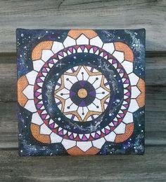 Mandala Acrylic Painting  Sacred Geometry Art  by PieSlices