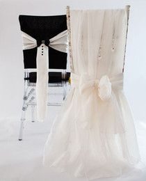 one pair stylish mru0026mrs organza crystals chair sashes romantic beautiful chair covers cheap custom made