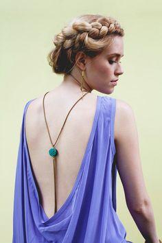 Turquoise Pendant & Tassel Necklace. $70.00, via Etsy. loveeee this