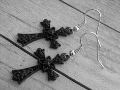 Black Cross Earrings by Ink & Roses 13