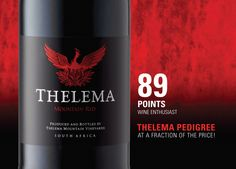 Thelema is simply one of the best in the Cape Winelands Fine Wine, Cape Town, Wine Recipes, Wines, Red Wine, South Africa, My Favorite Things, Bottle, Food