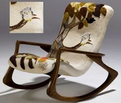 Owl Rocking Chair by Erica Wilson and Vladimir Kagan LOVE this! How cool and different would this be in a nursery?