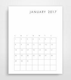 Monthly Planner, Printable Calendar, Business Planner, Printable Small Business, Printable Planner, Planner Templates, Work Planner 2017 #jpwdesignstudio