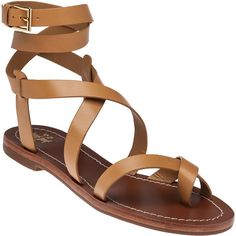 TORY BURCH Patos Blond Leather Sandal ($225) ❤ liked on Polyvore featuring shoes, sandals, blonde leather, ankle tie sandals, tory burch sandals, wrap around ankle sandals, leather sandals and toe loop sandals