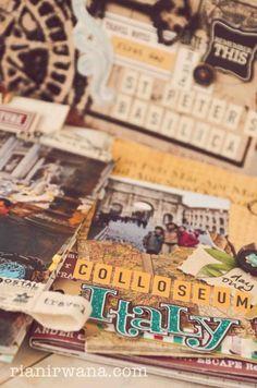 Ria Nirwanas Home #scrapbook #album #DIY #Europe #trip #travel #art #Pisa #Italy #Minialbum #layout