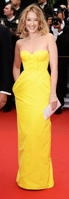 French actress Ludivine Sagnier looked stunning in a Louis Vuitton gown at the 66th Annual Cannes Film Festival.