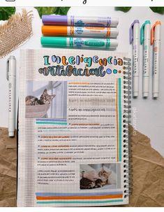 Bullet Journal Writing, Bullet Journal Aesthetic, Bullet Journal School, Bullet Journal Ideas Pages, Bullet Journal Inspo, College Notes, School Notes, Study Organization, School Notebooks