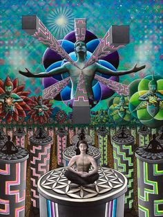 The online portfolio of Drake Arnold; Traditional and digital artwork, animations, installations and more. Arte Peculiar, Application Mobile, Psy Art, Visionary Art, Psychedelic Art, Color Of Life, Spiritual Awakening, Sacred Geometry, Artist Art