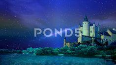 Night over a fairytale castle - Стоковое видео | by Aleksmaster