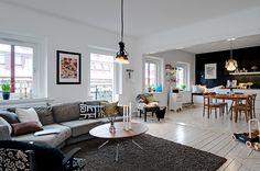 Maison du Chocolat: Apartamento Escandinavo Preto e branco