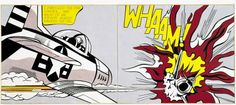 Roy Lichtenstein. Whaam!, 1963. Magna på lærred / Magna on canvas.