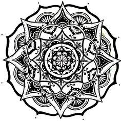 Mandala Designs, moonlitwoodland: quick simple mandala sketch #8