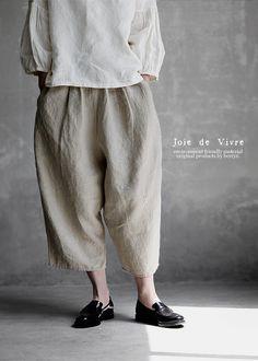 【送料無料】JoiedeVivreフレンチリネンワッシャーバルーンパンツ Fashion Week 2018, Lakme Fashion Week, Spring Fashion Trends, Simple Outfits, Casual Outfits, Parisian Chic Style, Fairy Clothes, Androgynous Fashion, Japanese Outfits