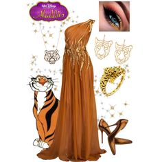 The earrings and necklace are a little childish, but love the rest Disney Prom, Disney Dress Up, Disney Clothes, Casual Dress Outfits, Summer Dress Outfits, Fashion Outfits, Masquerade Dresses, Masquerade Ball, Estilo Disney