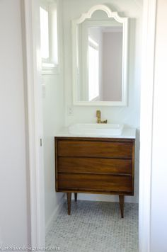 5 Astonishing Tips: Natural Home Decor Boho Chic Texture natural home decor boho chic texture.Natural Home Decor Bedroom Sleep all natural home decor dreams.Natural Home Decor Bedroom Texture. Mid Century Bathroom Vanity, Mid Century Modern Vanity, Small Bathroom Vanities, Tiny Bathrooms, Bathroom Ideas, Vanity Bathroom, Bathroom Tubs, Modern Bathrooms, Ikea Bathroom