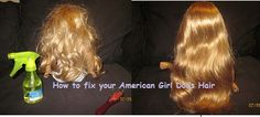 How to fix your American Girl dolls hair like the pro's