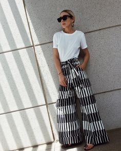 Wide Leg Pants & White T-shirt #ShopStyleCollective #MyShopStyle #ssCollective #ootd #mylook #springstyle #currentlywearing #lookoftheday #summerstyle #wearitloveit #getthelook #todaysdetails