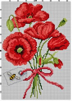 This Pin was discovered by Gyö Cross Stitching, Cross Stitch Embroidery, Embroidery Patterns, Hand Embroidery, Cross Stitch Charts, Cross Stitch Designs, Cross Stitch Patterns, Knitting Charts, Cross Stitch Flowers
