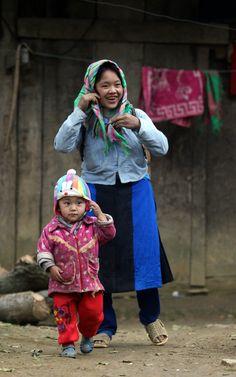 Mother & Son, Ha Giang, Vietnam
