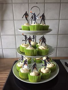 Carrot Cupcakes with eatable Basketball player topping. My son loved his birthday cake!