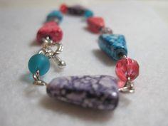 Funky geometric beaded bracelet. Geometric jewelry. by ArtsParadis, $12.00