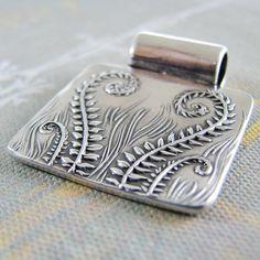 Fiddleheads Artisan Handmade Jewelry Fine Silver by SilverWishes