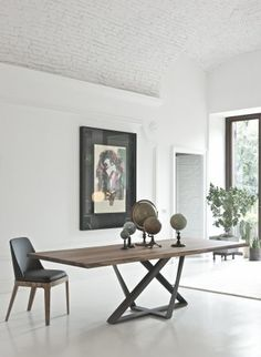 31 Of The Most Brilliant Modern Dining Table Design Ideas - Best Home Ideas and Inspiration Modern Dinning Table, Dinning Table Design, Dining Tables, Metal Dining Table, Metal Table Frame, Metal Tables, Wood Table Design, Wood Tables, Dining Chair
