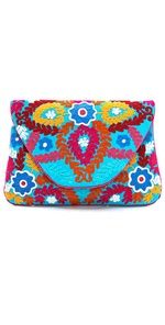 Moyna Large Flowered Embroidered