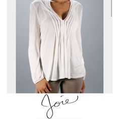 Soft by Joie Maxilaria Henley Top Soft by Joie Maxilaria Henley Top. Striped fabric down front and back. Length is 29. Bust is 21. Excellent condition. No flaws or stains. Feel free to make a reasonable offer. Joie Tops Blouses