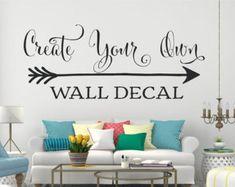 Custom Wall Decal Custom Wall Stickers Custom by Walls2LifeDecals