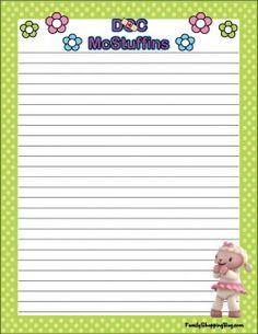 {free} printable Doc McStuffins Stationery