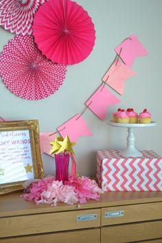 Pinkalicious Party Ideas - The Daily Hostess Birthday Celebration, Birthday Party Themes, 4th Birthday, Birthday Ideas, Pink Parties, Theme Parties, Birthday Themes For Adults, Pink Party Decorations, Fairy Wands