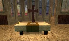 Holy Saturday altar at the Anglican Cathedral in Second Life (photo by Ana Stubbs)