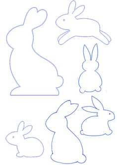 Easter Bunny Template, Easter Templates, Bunny Templates, Easter Printables, Bunny Crafts, Easter Crafts, Tree Crafts, Felt Crafts, Easter Projects