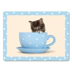Deska do krojenia szklana Kitty In A Tea Cup