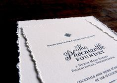 hand deckled letterpress invitations by Typothecary Letterpress