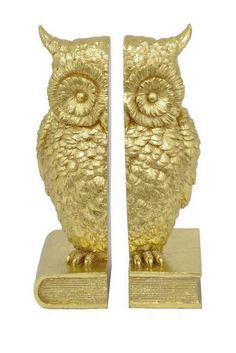 Gold Resin Owl Bookend  Sponsored by Nordstrom Rack.