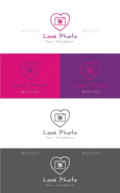 Love Photo Logo — Vector EPS #hand drawn #love • Available here → https://graphicriver.net/item/love-photo-logo/11983096?ref=pxcr